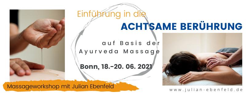 Massage lernen Bonn Köln Workshop Achtsame Berührung